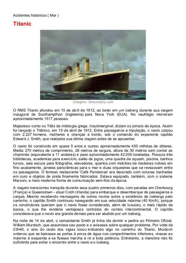 O naufrágio do Titanic