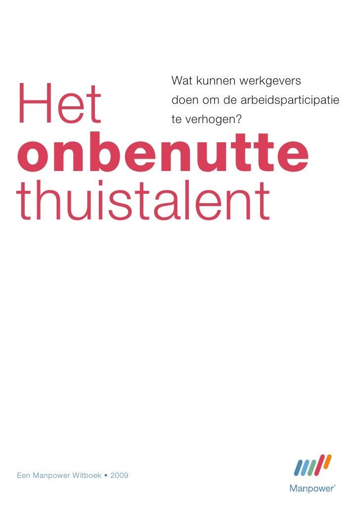 Onbenutte Thuistalent - Witboek