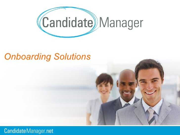 Candidate Manager Onboarding