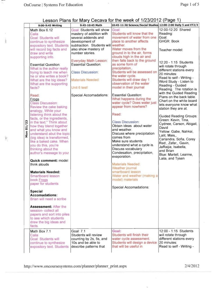 OnCourse I Systems For Education                                                                                   Page 1 ...