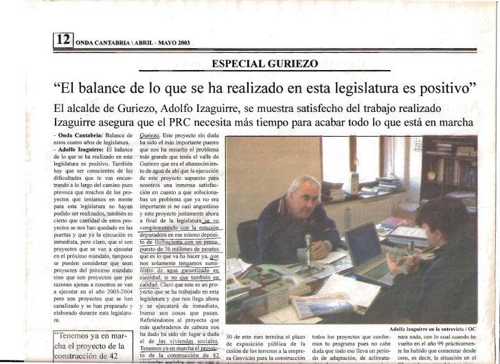 1   12 1ONDA CANTABRIA  ABRIL - MAYO 2003                                                                     ESPECIAL GUR...