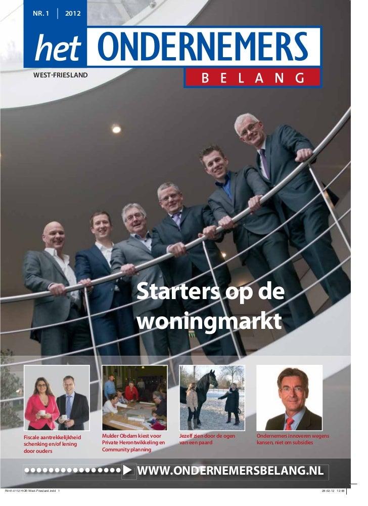 Ondernemersbelang Starters Op De Woningmarkt 03 2012