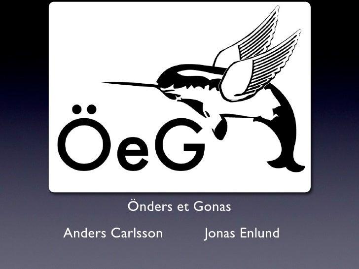 Önders et Gonas Anders Carlsson     Jonas Enlund