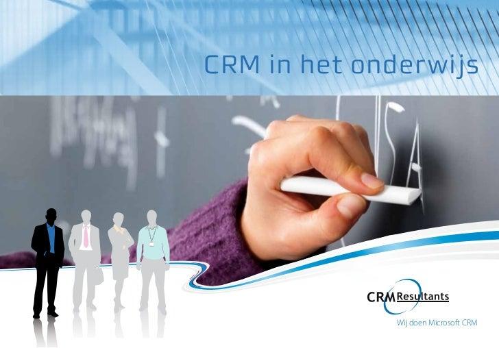 CRM in het onderwijs overview