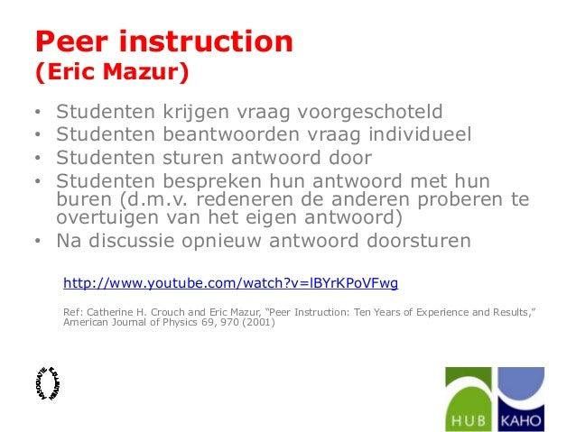 eric mazur peer instruction
