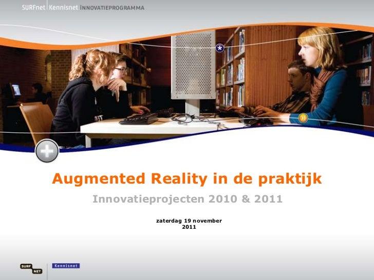 Onderwijsdagen - Augmented Reality, 8-11-11