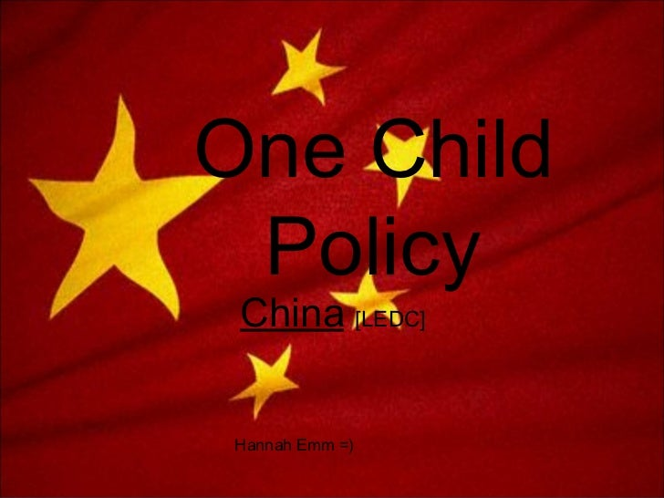 One child policy essay