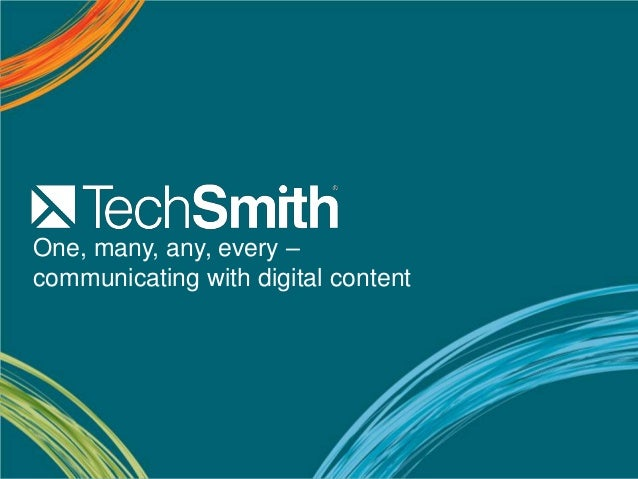 One, many, any, every –communicating with digital content