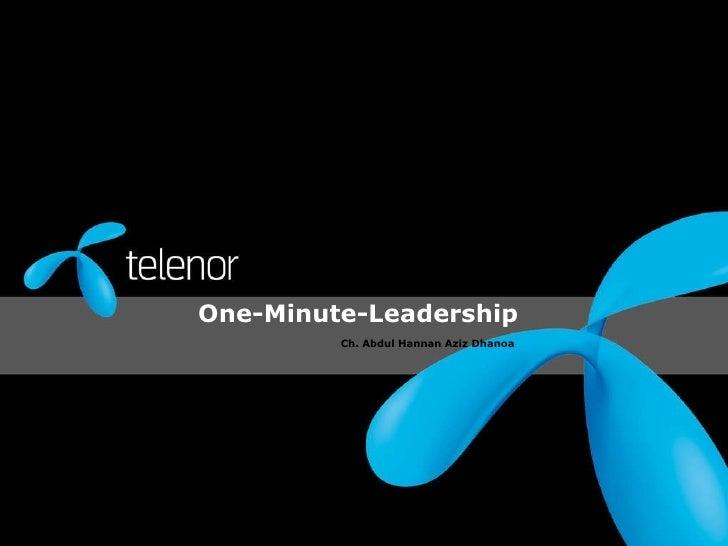 One minute-leadership