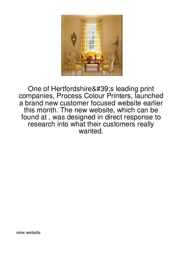 One of Hertfordshire's leading print companies, Process Colour Printers, launched a brand new customer focused website ear...