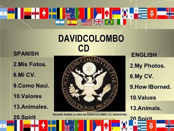 DAVIDCOLOMBO                       CD SPANISH                                                               ENGLISH 2.Mis ...