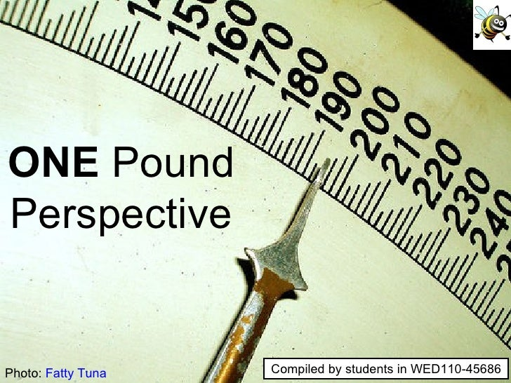 Photo:  Fatty Tuna ONE  Pound Perspective Compiled by students in WED110-45686