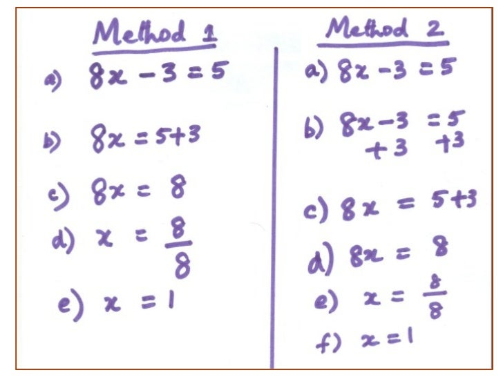 One problem-two-methods