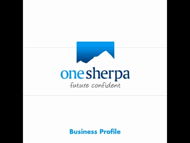 One Sherpa Business Profile