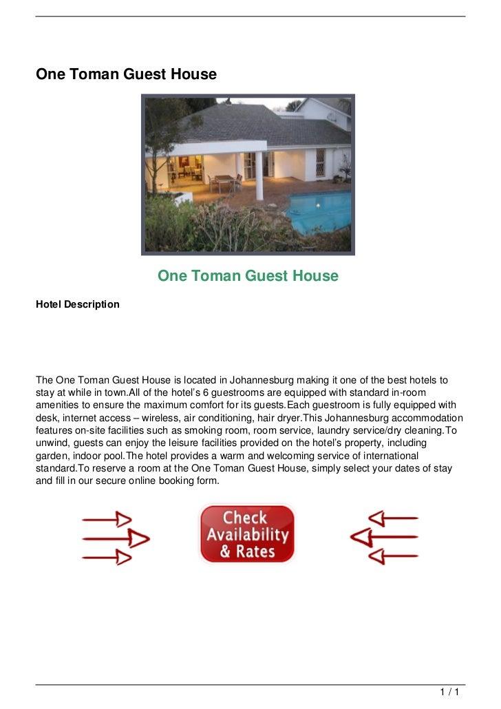 One Toman Guest House                                                              One Toman Guest House                  ...