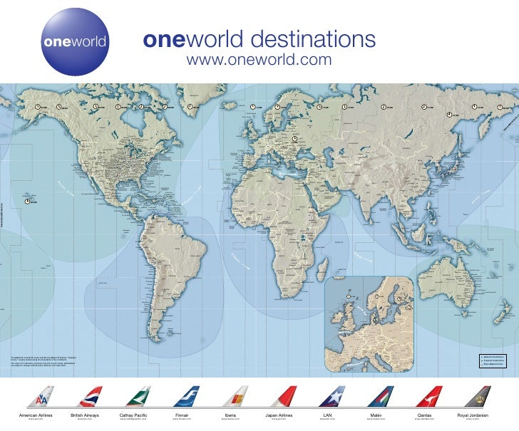 oneworld destinations                                                                                                     ...