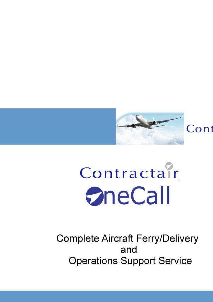 One Call Ferry Flight Presentation
