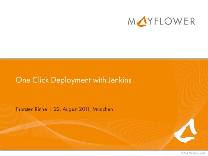 One click deployment with Jenkins - PHP Munich