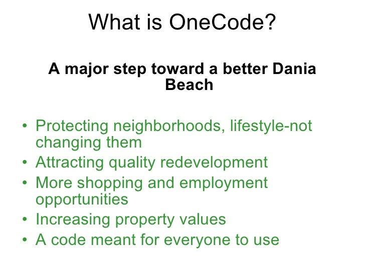 One code final presentation 8 18_10