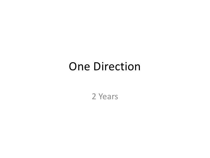 One Direction 2 Years