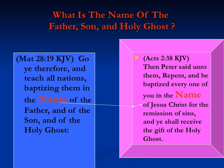 Word and the holy ghost and these three are one