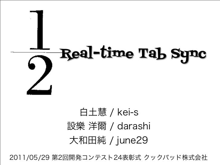 1/2 Real-time Tab Sync