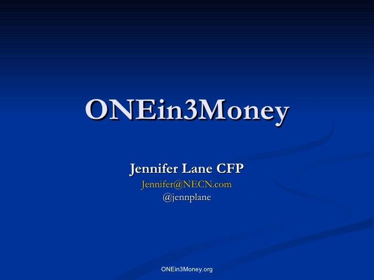 OnEin3 Money 01 20 10