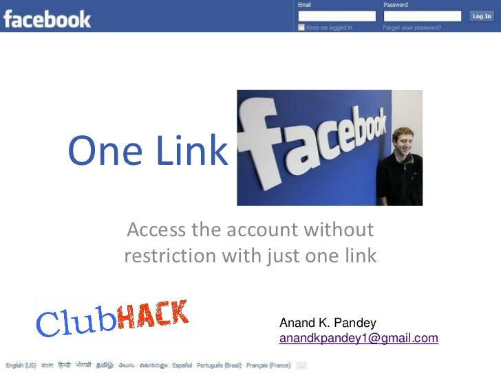 One Link  Access the account without  restriction with just one link                    Anand K. Pandey                   ...