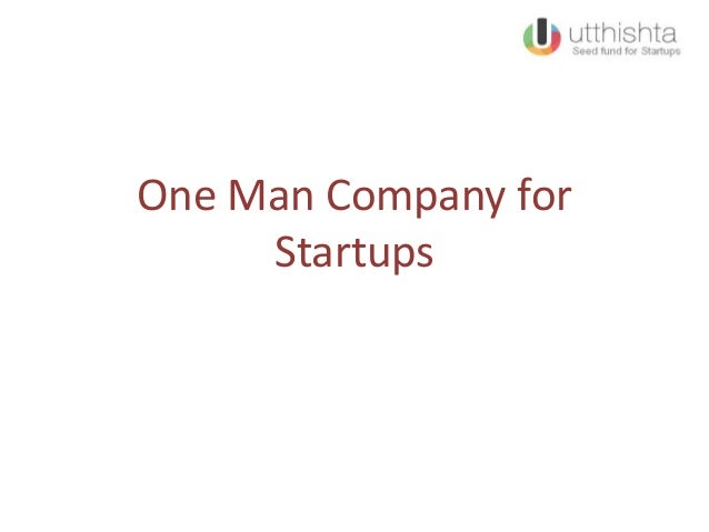 One Man Company for Startups