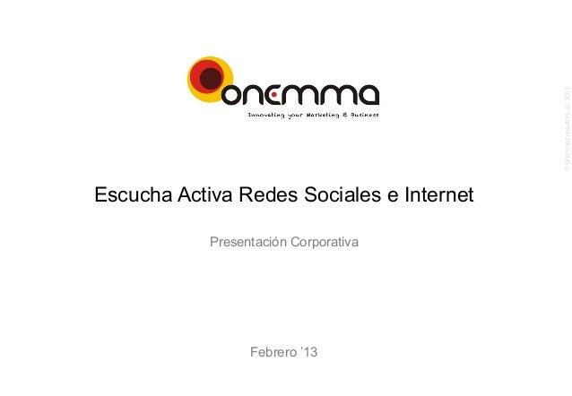 Onemma: Escucha Activa de redes sociales e internet