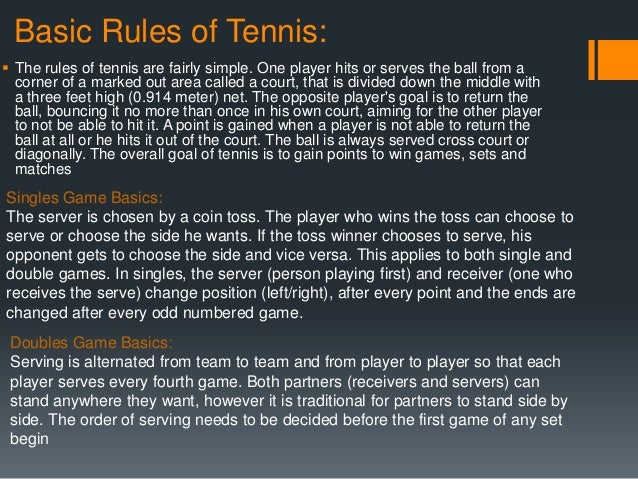 History and rules of tennis essay