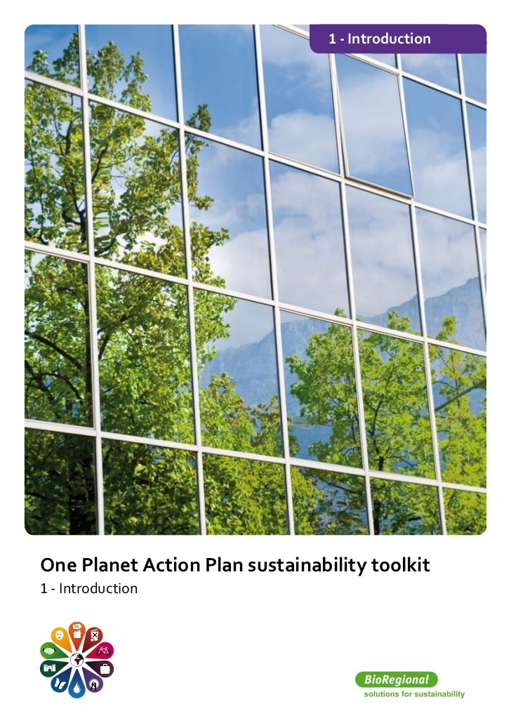 One planet action plan sustainability toolkit