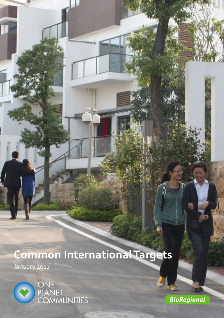 Common International TargetsJanuary 2011        ONE        PLANET        COMMUNITIES