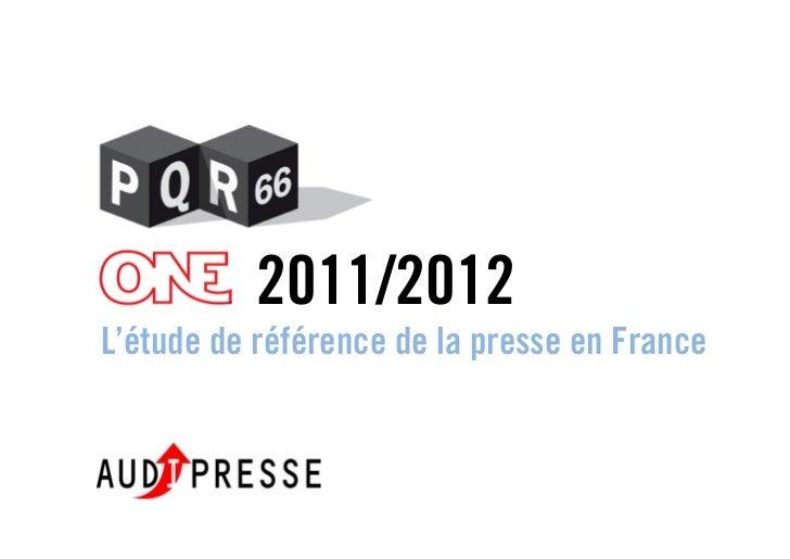 2011/2012L'étude de référence de la presse en France