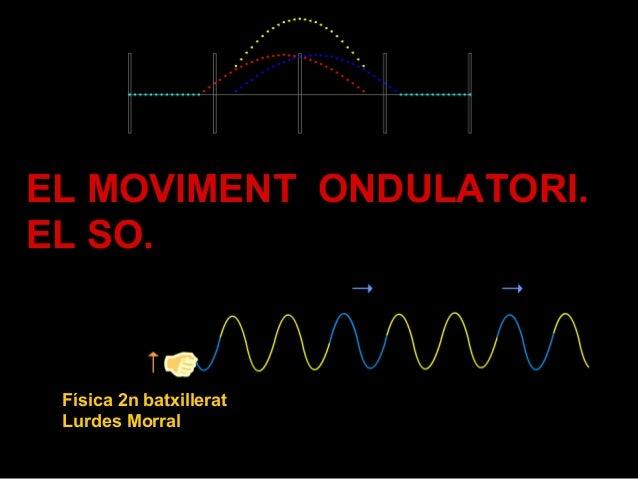1 EL MOVIMENT ONDULATORI. EL SO. Física 2n batxillerat Lurdes Morral