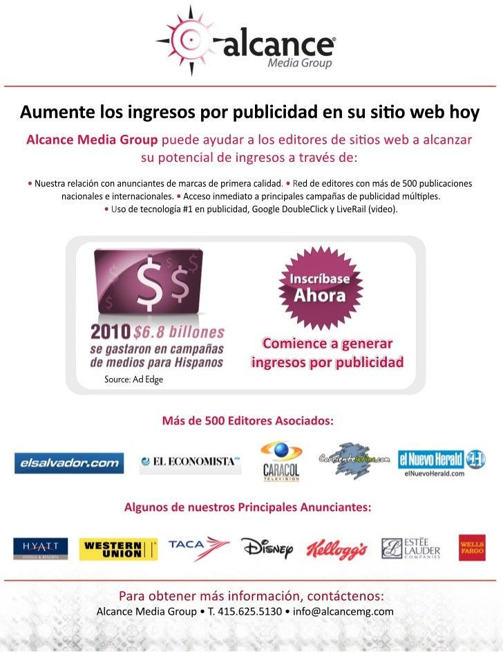 Onesheet Publisher Solutions 2011 espanol