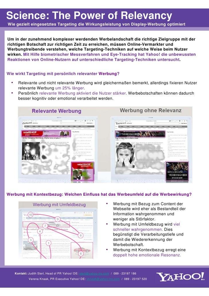 """Yahoo! Studie """"The Power of Relevancy"""""""