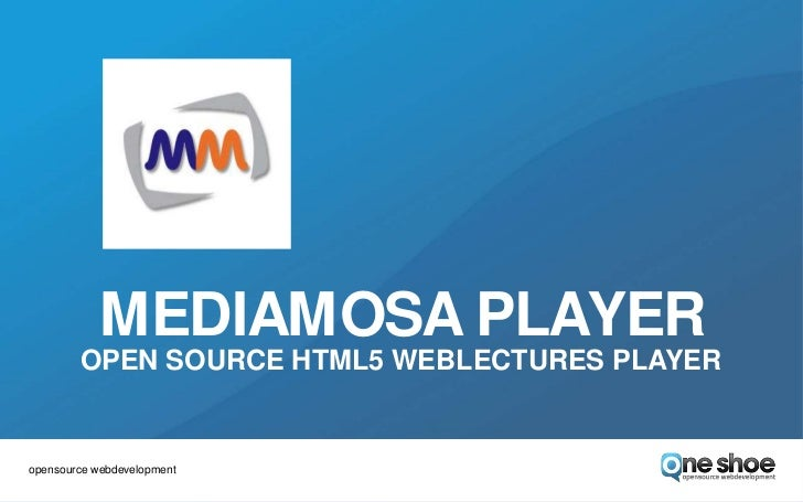 MediaMosa Player - Open source HTML5 weblectures player