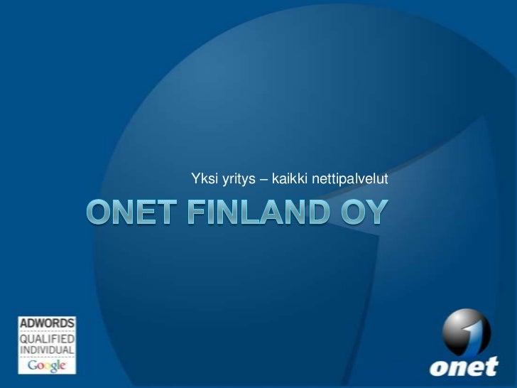 Onet Finland Oy