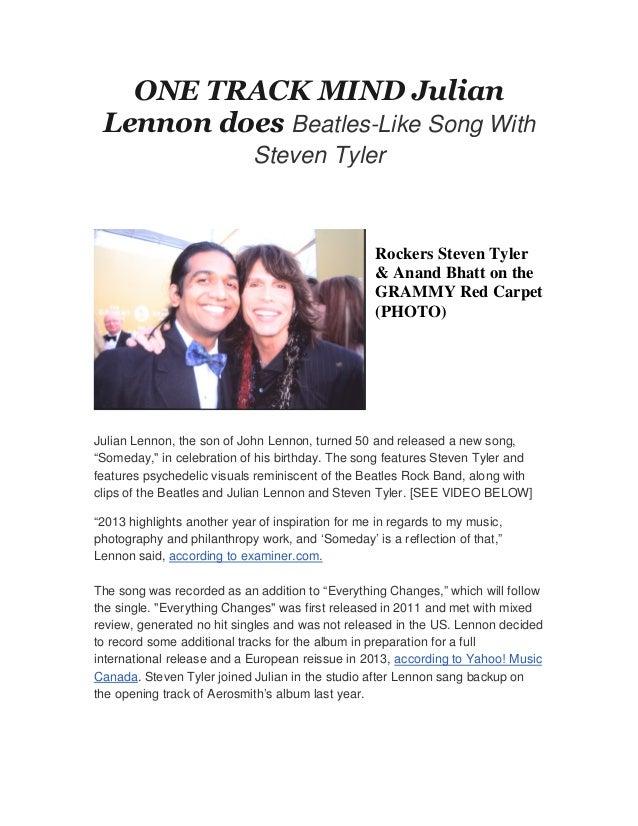 ONE TRACK MIND Julian Lennon does Beatles-Like Song With                             Steven Tyler                         ...