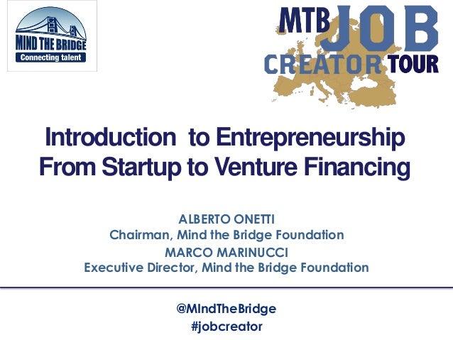 ALBERTO ONETTIChairman, Mind the Bridge FoundationMARCO MARINUCCIExecutive Director, Mind the Bridge FoundationIntroductio...