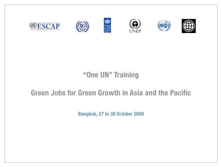 One Un Training Bangkok 27 October 2009
