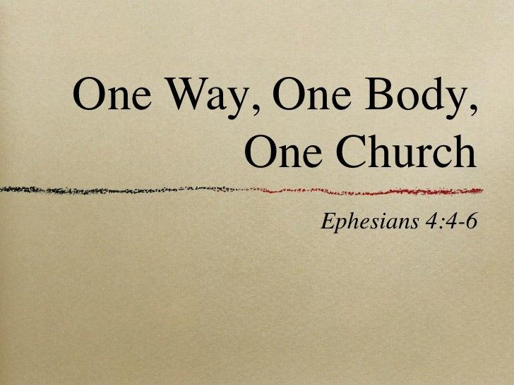 One way body_church