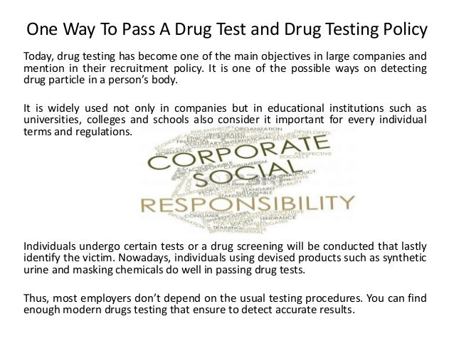 how to pass a drug test with surgel