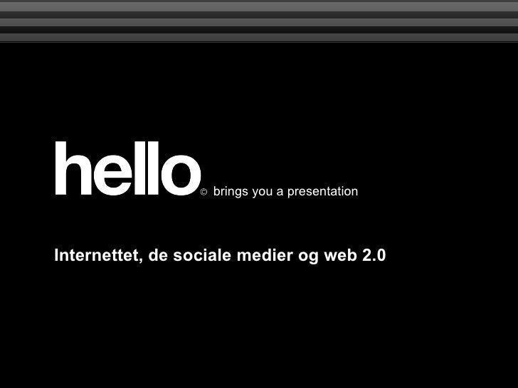 One Web Day presentation about social media