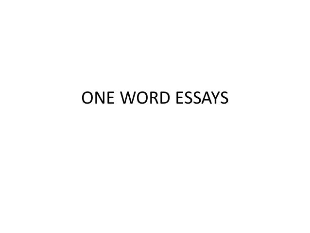 one word essay spm peace