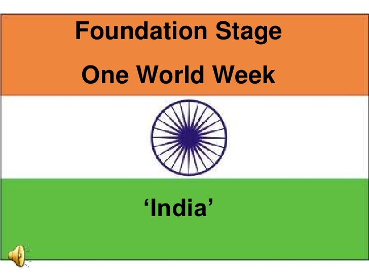 "Foundation Stage One World Week          ""India"""