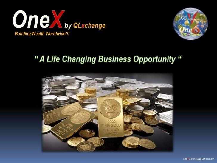 Building Wealth Worldwide!!!                               oneXvictorious@yahoo.com