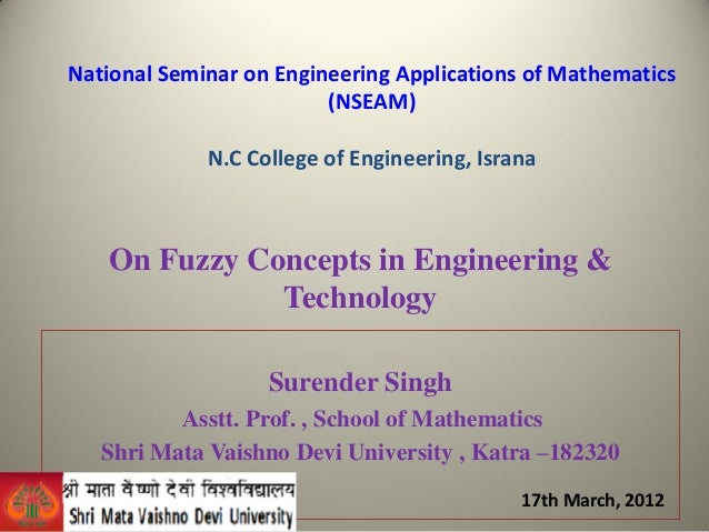 On fuzzy concepts in engineering ppt. ncce