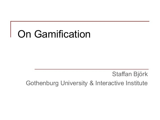 On gamification